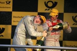 Podium : Paul di Resta (Team HWA AMG Mercedes), deuxième, et Timo Scheider (Audi Sport Team Abt), troisième