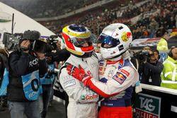 Filipe Albuquerque, vainqueur de la Course des Champions, et Sébastien Loeb, deuxième