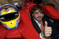 Fernando Alonso au dîner de gala