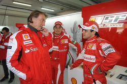Luca di Montezemolo, Felipe Massa et Giancarlo Fisichella