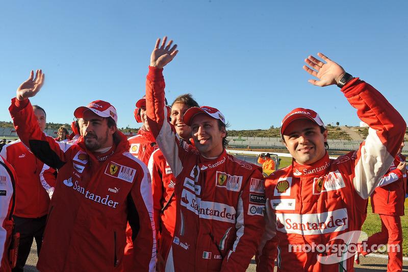 Fernando Alonso, Luca Badoer et Felipe Massa