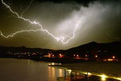 Onweer boven San Luis