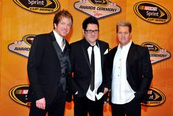 Joe Don Rooney, Jay DeMarcus and Gary LeVox of Rascal Flatts attend the NASCAR Sprint Cup Series awa