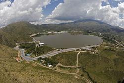 Vue aérienne de la piste de Lago Potrero de los Funes