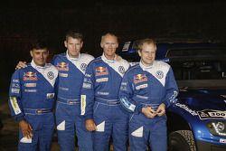 Volkswagen Motorsport: corijder Lucas Cruz Senra, Dirk Von Zitzewitz, Ralph Pitchford en Timo Gottsc