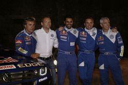 Volkswagen Motorsport: rijders Carlos Sainz, Nasser Al Attiyah, Giniel De Villiers en Mark Miller me