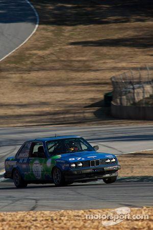 #87 Bimmerparts.com 1987 BMW 325is Blue/Gre: Jonathan Allen, Alastair McEwan, Rob D'Amico, Zane Gibb