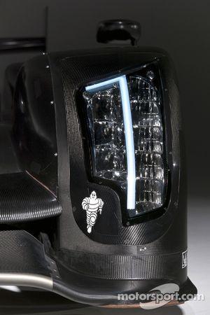 The 2011 Audi R18 TDI in development in the wind tunnel