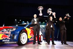 FIA World Rally Championship: Olivier Quesnel, FIA World Rally Champions Sébastien Loeb and Daniel Elena