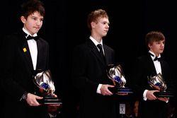 Les champions du monde CIK-FIA Karting au gala de remise des prix 2010 FIA à Monaco