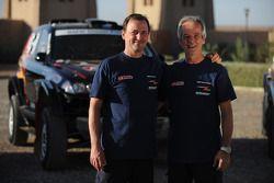 Team X-raid: rijder Stephan Schott en corijder Holm Schmidt