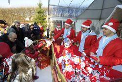 Natale Bimbi evenement: Felipe Massa, Fernando Alonso, Jules Bianchi