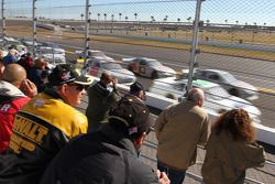 Fans watch test action
