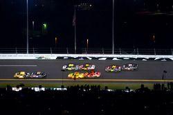 Ryan Newman, Stewart-Haas Racing Chevrolet, Denny Hamlin, Joe Gibbs Racing Toyota, Kurt Busch, Pensk
