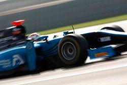 Podium: race winner Jules Bianchi