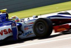 Podium: Jules Bianchi, vainqueur et Davide Valsecchi, troisième