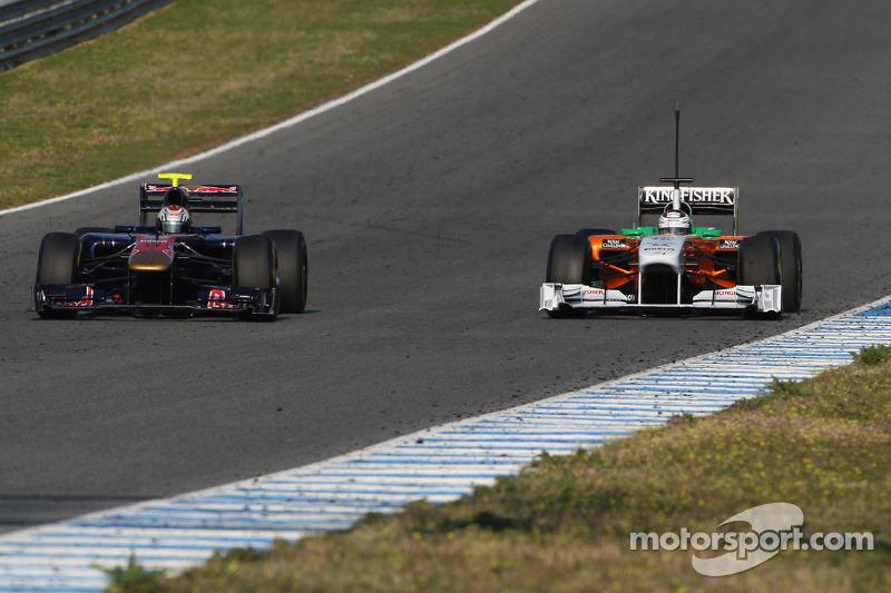 Хайме Альгерсуари, Scuderia Toro Rosso и Адриан Сутиль, Force India F1 Team