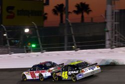 Dale Earnhardt Jr., Hendrick Motorsports Chevrolet and Jimmie Johnson, Hendrick Motorsports Chevrole