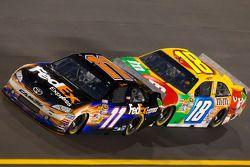 Denny Hamlin, Joe Gibbs Racing Toyota and Kyle Busch, Joe Gibbs Racing Toyota