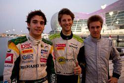 Romain Grosjean, poleman ; Jules Bianchi, second, et Davide Valsecchi, troisième