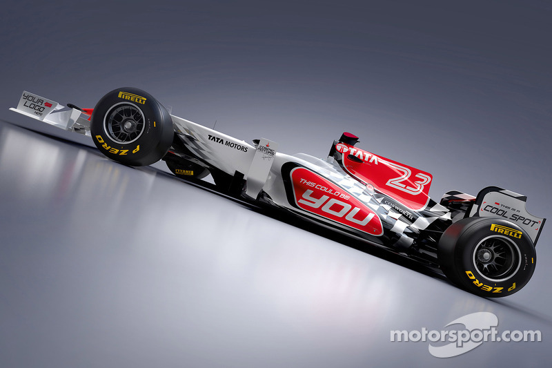 yeni HRT Racing HRT F111 design for 2011 F1 season