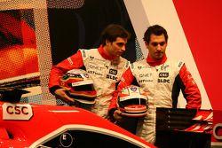 Timo Glock, Marussia Virgin Racing et Jerome D'Ambrosio, Marussia Virgin Racing