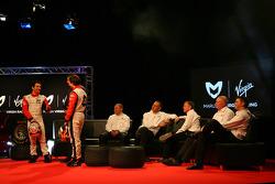 Timo Glock, Marussia Virgin Racing; Jerome D'Ambrosio, Marussia Virgin Racing