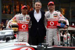 Lewis Hamilton, McLaren Mercedes, Martin Whitmarsh, McLaren, CEO, Jenson Button, McLaren Mercedes