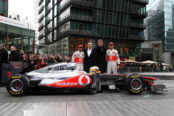 Lewis Hamilton, McLaren Mercedes, Martin Whitmarsh, McLaren, Chief Executive Officer, Fritz Joussen, CEO Vodafone Germany, Jenson Button, McLaren Mercedes