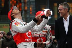 Jenson Button, McLaren Mercedes, Lewis Hamilton, McLaren Mercedes, Martin Whitmarsh, McLaren, Chief