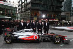 Neil Oatey, McLaren, Executive Director Engineering, Paddy Lowe McLaren Engineering Director, Jonathan Neale, McLaren, Tim Goss, McLaren, Simon Roberts McLaren