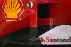 Scuderia Ferrari technical detail, side pod