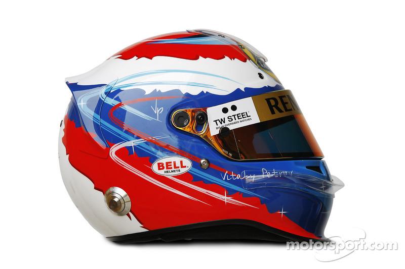 Helm von Vitaly Petrov, Lotus Renault GP