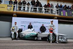 Nico Rosberg, Mercedes GP F1 Team ve Ross Brawn Takım Patronu, Mercedes GP, Norbert Haug, Mercedes,