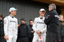 Nico Rosberg, Mercedes GP F1 Team, Michael Schumacher, Mercedes GP F1 Team and Ross Brawn Team Princ
