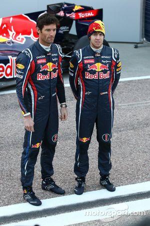 Mark Webber, Red Bull Racing; Sebastian Vettel, Red Bull Racing