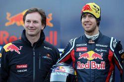 Christian Horner, Red-Bull-Racing-Teamchef; Sebastian Vettel, Red Bull Racing