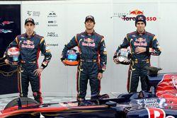 Sebastien Buemi, Scuderia Toro Rosso, Daniel Ricciardo, Scuderia Toro Rosso et Jaime Alguersuari, Scuderia Toro Rosso