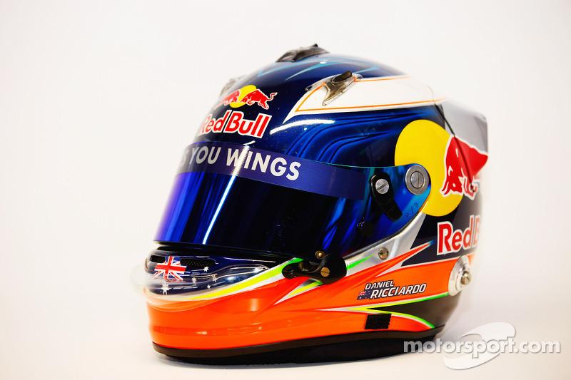 Helm von Testfahrer Daniel Ricciardo , Scuderia Toro Rosso