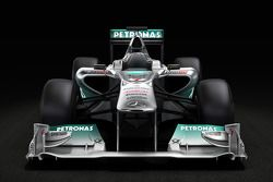 Photo pré-lancement de la Mercedes GP F1 Team MGP W02