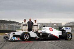 Sergio Perez, Sauber F1 Team, Peter Sauber, Sauber F1 Team, Team Principal, Kamui Kobayashi, Sauber F1 Team