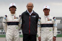 Sergio Perez, Sauber F1 Team, Peter Sauber, Sauber F1 Team, Team Principal, Kamui Kobayashi, Sauber