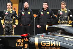 Robert Kubica, Lotus Renault GP, Gerard Lopez, Lotus Renault GP, Eric Boullier, Team Principal, Lotu