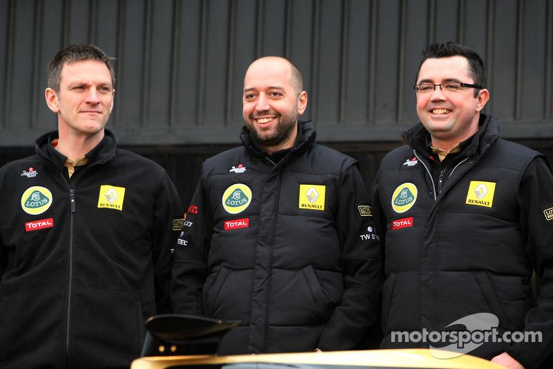 Gerard Lopez, Lotus Renault GP owner and Eric Boullier, Team Principal, Lotus Renault GP