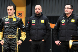 Robert Kubica, Lotus Renault GP, Gerard Lopez, Lotus Renault GP owner and Eric Boullier, Team Principal, Lotus Renault GP