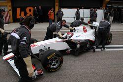 Premier relais de la C30 avec Kamui Kobayashi, Sauber F1 Team