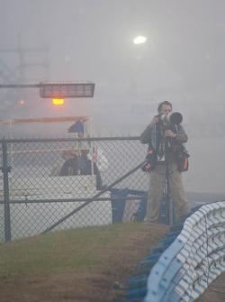 Motorsport.com's Eric Gilbert lost in the morning fog