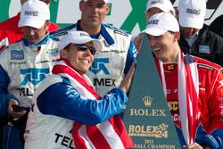 DP victory lane: class and overall winners Scott Pruett and Graham Rahal celebrate