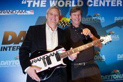 Grand Am Rolex Series race winning guitar presentation