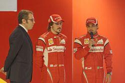 Stefano Domenicali; Fernando Alonso und Felipe Massa, Scuderia Ferrari